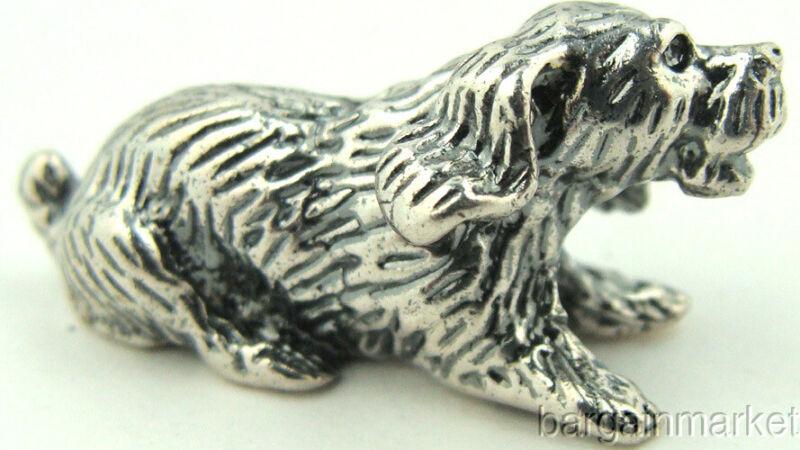 Miniature Puppy Dog Figurine 925 Sterling Silver Miniature #10