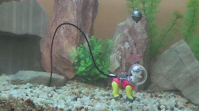 Action Air Diving Sea Dog Fish Aquarium Bubble Decoration Ornament