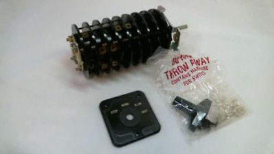 Electroswitch 24908py New 20 Amp 120v 4 Position Rotary Switch Nib