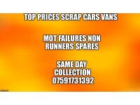 Cars vans mot failure non runners spare repairs wanted