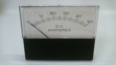 New Hoyt 3135 Ho-31354ntnt Dc Panel Meter Amperes Scale 0-50 Model Amp