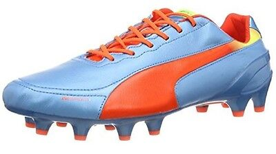 Puma EvoSPEED 1.2 L FG Mens Leather Blue Football Boots 102859 04