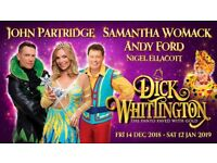 4 x Pantomime Tickets 26th December - Dick Whittington 7pm Showing Panto