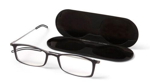 ThinOptics 250 Black Brooklyn Reading Glasses Milano Case MBBKN25BISR