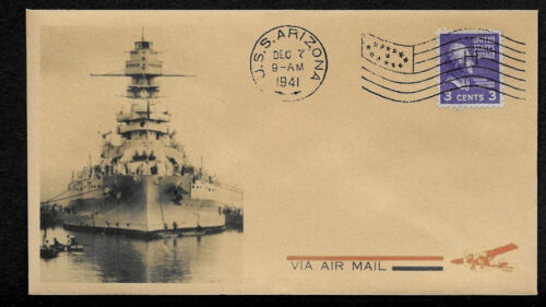 Pearl Harbor USS Arizona Collector Envelope Original Period 1941 Stamp *OP1055