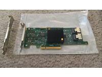 LSI SAS 9207-8i SATA/SAS 6Gb/s PCI-E 3.0 HBA & LSI CBL-SFF8087OCF-05M 0.5m SFF-8087 SATA Cable