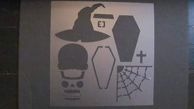 STENCIL Halloween Set Art Craft Paint Reusable #410s
