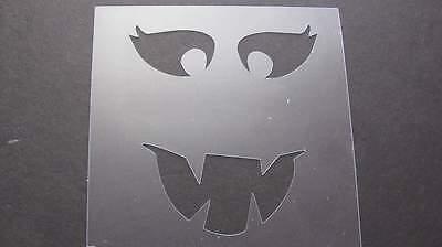 Stencil Halloween Crazy Face Art Paint Quilt Pumpkin Mylar Airbrush Durable #115