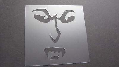 Halloween Font Stencils (Stencil Halloween Crazy Face Pumpkin Airbrush Mylar Reusable Durable)