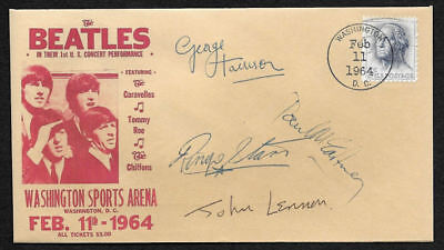 The Beatles 1964 1st USA Concert Collector Envelope With 1960s Stamp OP1257
