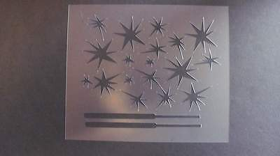 STENCIL Sparklers 4th of July Holiday Fireworks Reusable #312 Mylar Airbrush (Firework Stencil)