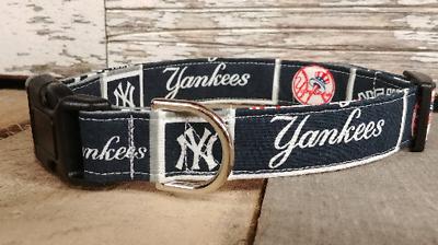 NY Yankees Dog Collar, buckle, Martingale w/ leash set optio