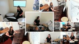 Drum Kit and Percussion Lessons.