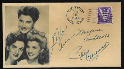 The Andrews Sisters Collector's Envelope Repro Autograph WWII Stamp *OP1274