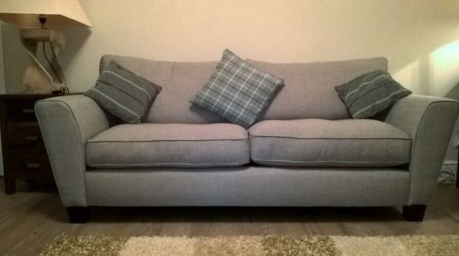 3 And 2 Seater Scs Clarke Grey Sofas In Milton Of