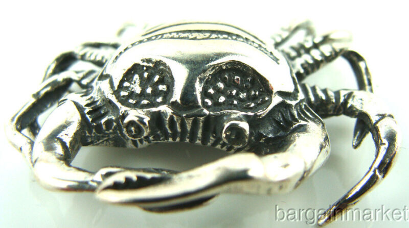 Sterling Silver Crab Cancer Zodiac Figurine #255