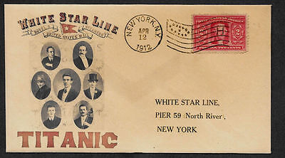 1912 Titanic Ad Reprint with 105 year old stamp on Collector's Envelope *OP1087