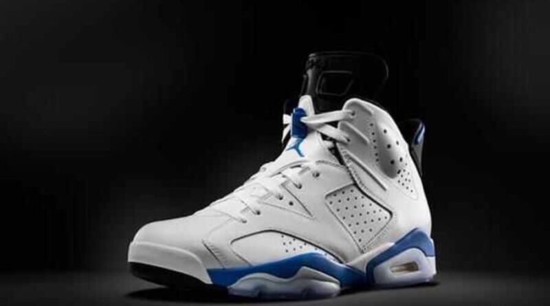 Air Jordan 6 Retro Men's Shoes White/Sport Blue-Black 384664-107 (18) Air Jordan 6 Retro