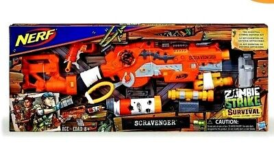 Nerf Zombie Strike Survival System Scravenger Blaster Tactical Kit Boys Toy New