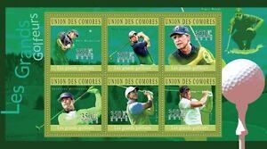 Golf Players Comores Comoros m/s Mi.2761-66 MNH #CM10201a - <span itemprop='availableAtOrFrom'>Olsztyn, Polska</span> - Golf Players Comores Comoros m/s Mi.2761-66 MNH #CM10201a - Olsztyn, Polska