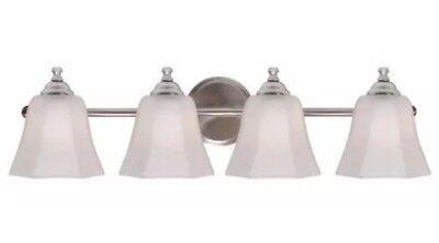 Kenroy Home 93524BS Woodhill 4 Light Bathroom Vanity Light