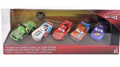 DISNEY CARS 3 Piston Cup Competition 5 Pack w/Paul Conrev Ryan Inside Laney