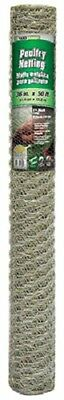 4 Rolls 308421b 36 X 50 Ft 1 Mesh Galv Poultry Netting Chicken Wire Fence