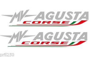 MV Agusta F4 / Brutale Vinyl MV Agusta Corse Decals Stickers - pair (23cm x 5cm)