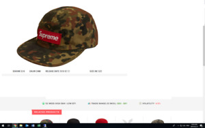 60f243135c111 Authentic Supreme Military Camp Hat Spring 2019 Release