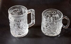 Batman Forever Mugs From McDonald's  Robin & The Riddler 1995