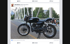 Motorcycle with a Retro Style
