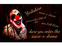 halloween event yorkshire scare-o-drome helpers neaded