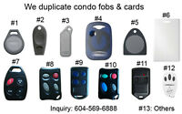 Fob Key Copies & Duplicates for Condo, Apartment, Building