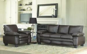 Sofa Set - 3 Piece - Brown 3 pc Set / Brown
