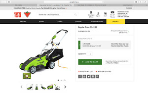 Brand New in Box Greenworks 10A Electric Lawn Mower, 16-in