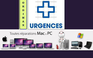 URGENT Service Réparation Laptop tout Mac Apple et Window