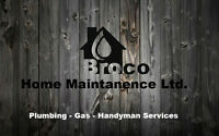 Plumbing, Gas, Handy-man Services