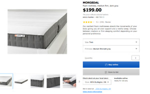 IKEA twin size MORGEDAL bed mattres