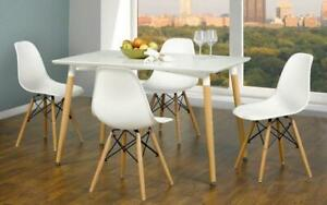 Kitchen Set with Lacquer Top - 5 pc - White 5 pc Set / White