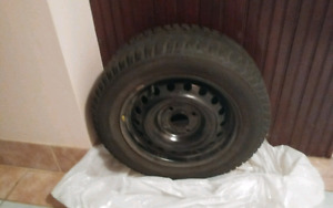 Winter tires with rims bought new 2 season used excellent shape