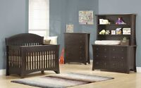 Convertible Baby Cribs-Nursery Furniture/Gliders/Baby Mattress