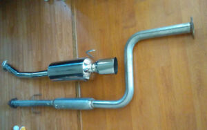 Aftermarket exhaust for a Honda. Brand name is Vibrant. Was purc
