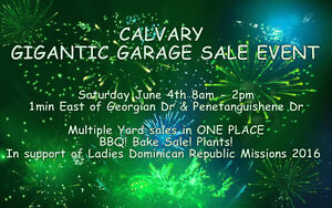 Calvary Gigantic Garage Sale - Seller Tables Availalbe