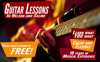 Guitar lessons in Nelson and Salmo