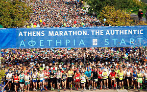 Package at Athens Marathon - The Authentic