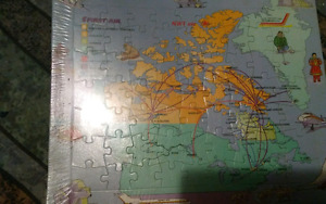 1980's Canadian Airline Routes Puzzle