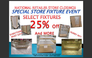 National Retailer Store Closing Blow Out Fixtures For Sale