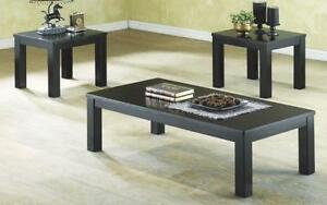 Coffee Table Set - 3 pc - Black Black