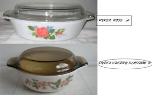 PYREX CASSEROLES  WITH COVER
