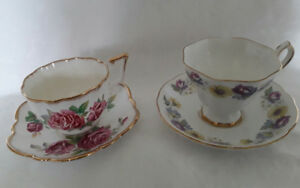 Vintage Cups and Saucers+ Vintage Snack Plates and  Cups
